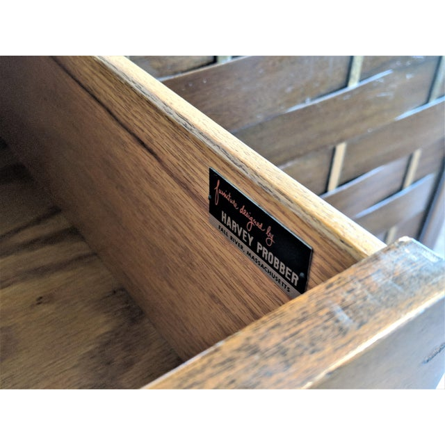 Harvey Probber Woven Front Credenza Sideboard - Image 9 of 10