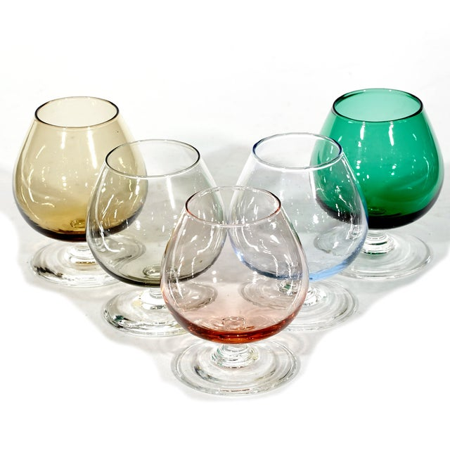 Image of 1960's Multicolored Cordial Shots - Set of 5