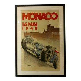 Monaco 16 Mai 1948 -Original Grand Prix Racing Poster - Geo Matt -Rare