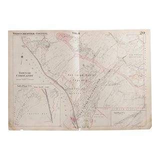 Vintage Hopkins Map of Croton on Hudson NY And Cortlandt