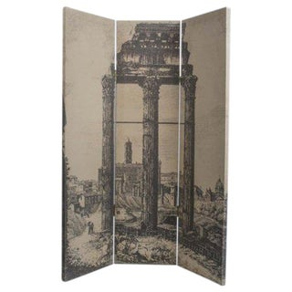 Fornasetti Style Three Panel Table Screen