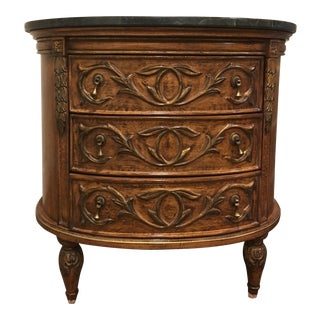 Louis XVI Three Drawer Oval Commode