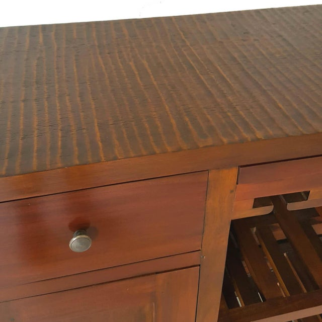 Mahogany Wood Bar Chest - Image 3 of 6