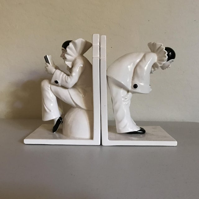 Vintage Tastesetter Ceramic Pierrot Bookends - A Pair - Image 4 of 7