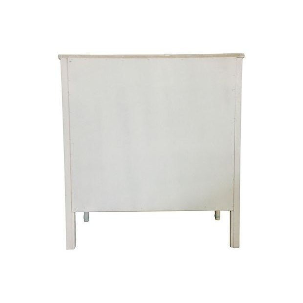 Image of Mint & White Faux Bamboo Dresser