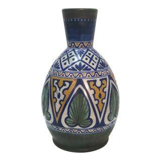 Gouda Matapan Dutch Art Deco Style Folk Art Pottery Vase