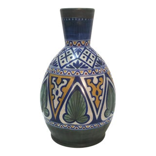 Gouda Matapan Dutch Art Deco Style Folk Art Pottery Vase