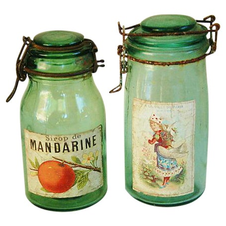Early 1900s French Preserve Canning Jars - A Pair - Image 1 of 6