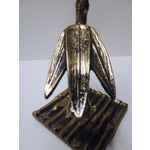Image of Brass Tiki Bamboo Card Memo Glove Holder