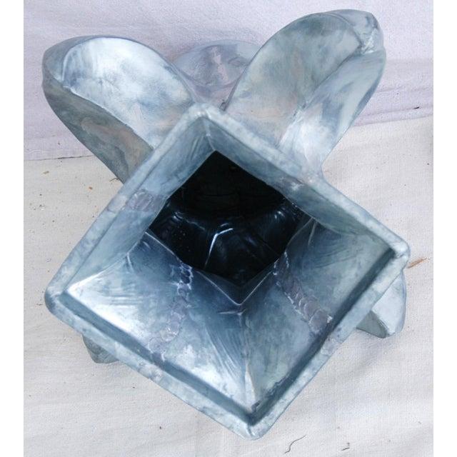 Image of Large Architectural Silver Fleur-De-Lis Finial