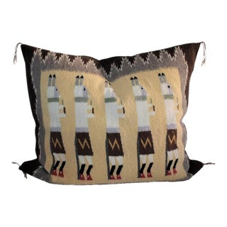 Yea Navajo Indian Weaving Pillow