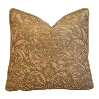 Italian Mariano Fortuny Campanelle Feather & Down Pillow