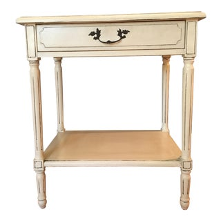 Vintage French White Washed Entry Table