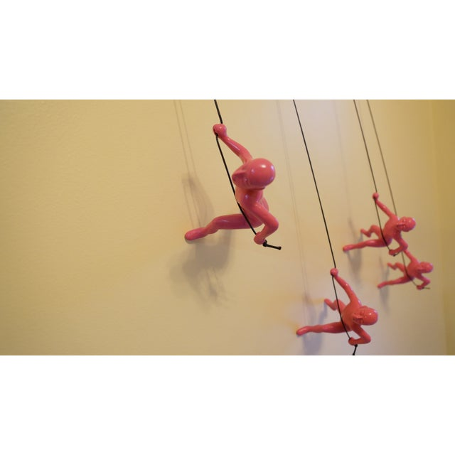 Pink Climbing Man Wall Art - Set of 4 - Image 4 of 7