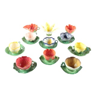 Mustardseed & Moonshine Porcelain Cups and Saucers - Set of 19