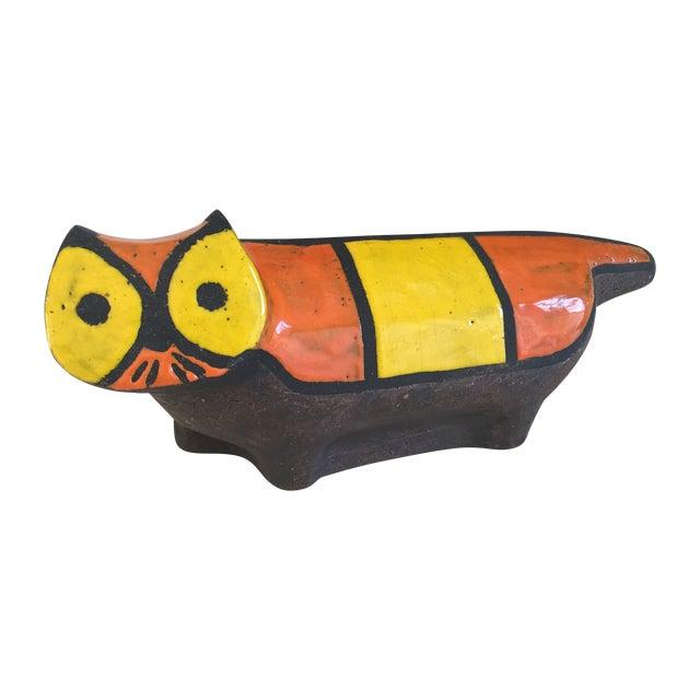 Vintage Ceramic Stoneware Cat Sculpture - Image 1 of 9