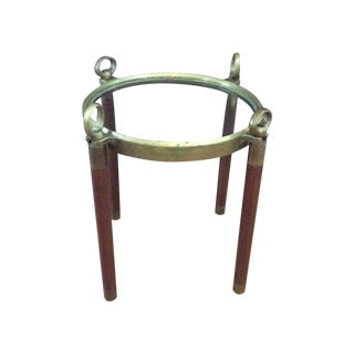 Vintage Nautical Heavy Brass Port Hole Side Table