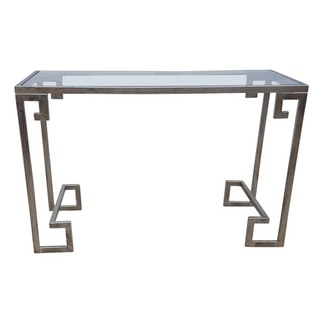 Greek Key Console Table - Image 1 of 4