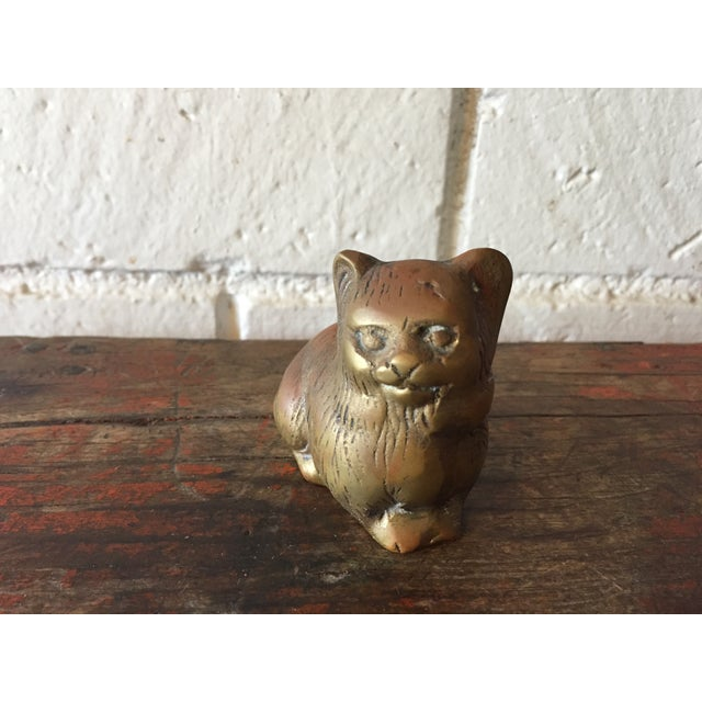 Small Brass Kitty - Image 5 of 6