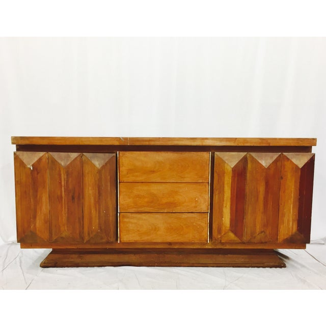 Mid-Century Modern Brutalist Kagan Style Dresser - Image 3 of 11
