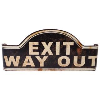 Vintage Inspired Exit Sign