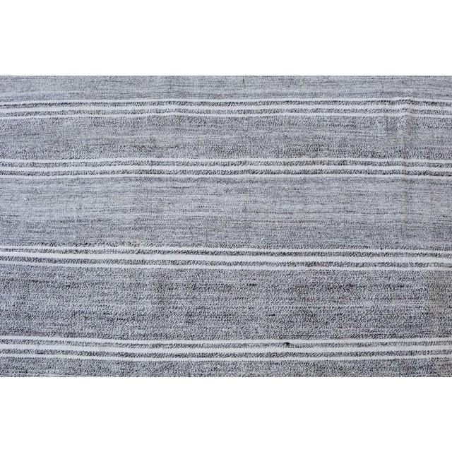 "Turkish Vintage Flat-Weave Rug - 7'3"" x 10' - Image 3 of 4"