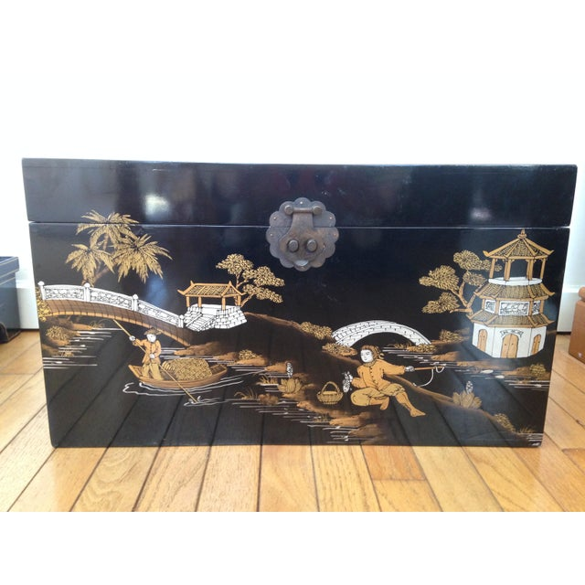 Vintage Chinese Laquered Chests - A Pair - Image 8 of 11