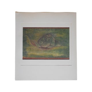 Vintage Mid 20th C. Abstract Lithograph
