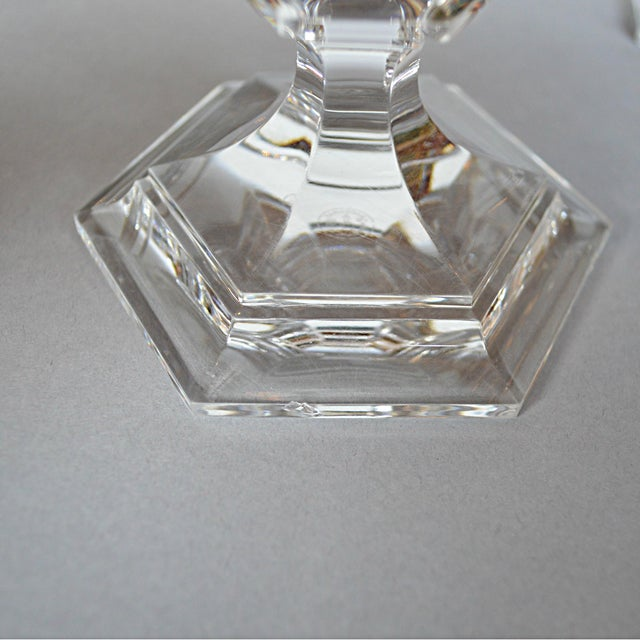 Baccarat Crystal Candlesticks - A Pair - Image 6 of 6
