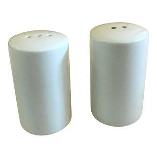 Mid-Century Modern White Salt & Pepper Shakers - A Pair