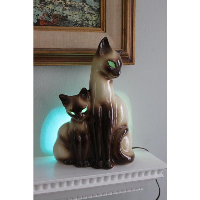Vintage Ceramic Siamese Lamp - Image 2 of 8