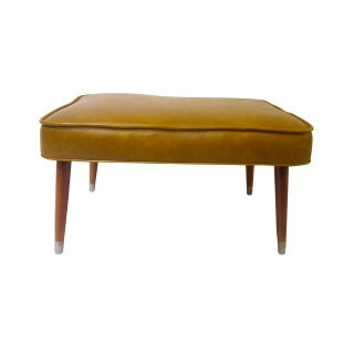 Danish Modern Ottoman With Atomic Tapered Legs