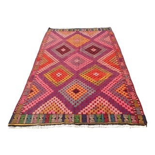"Vintage Turkish Kilim Rug - 5'11"" x 9'11"""