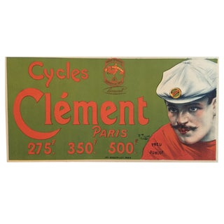 1890 Vintage French Cycles Clement/Pneus Dunlop