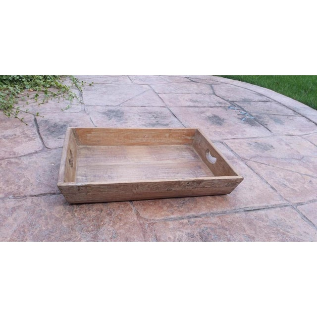 Reclaimed Wood Primitive Style Large Serving Tray - Image 3 of 5