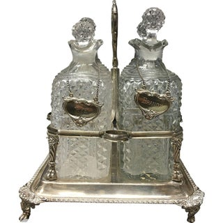 Silver Decanter Set, London 19th Century - 4