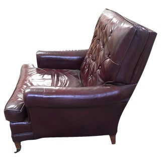 Mid-Century W & J Sloane Leather Club Chair, Signed Sloane
