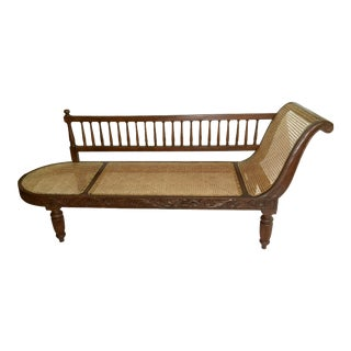 Vintage West Indies Plantation Cane Chaise Lounge