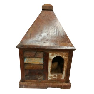 Rustic Log Reclaimed Wood Big Bird House