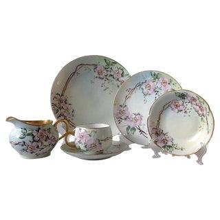 Antique Wild Rose Bavaria Porcelain Dishes - S/29