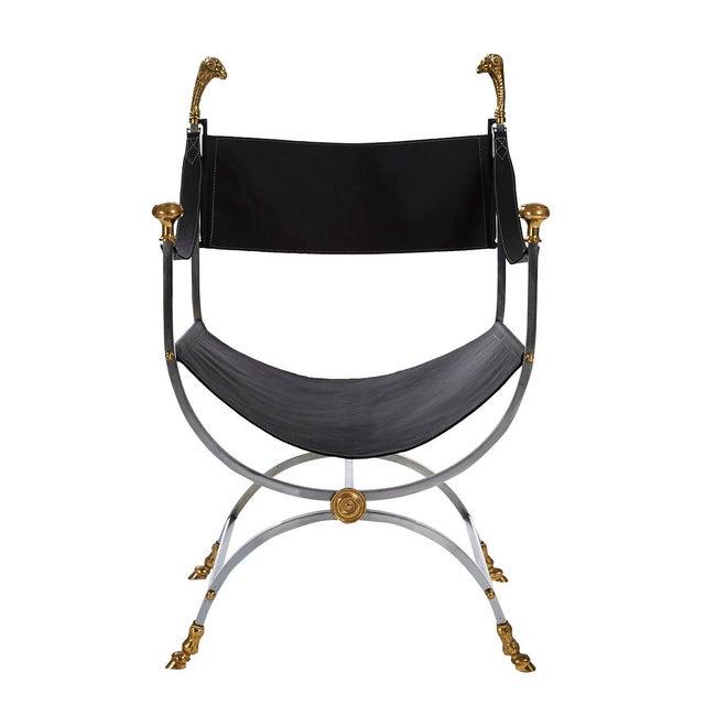 Maison Jansen Savonarola Chair - Image 2 of 3