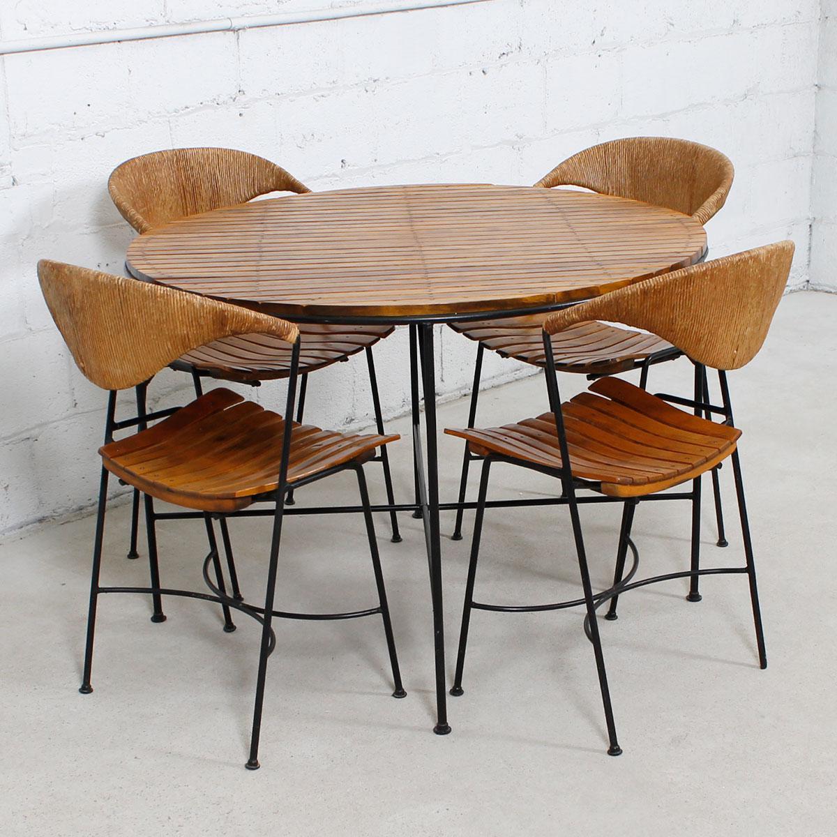 1950u0027s Arthur Umanoff For Raymor Mid Century Dining Set   Set Of 5   Image 4