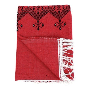 Moroccan Cotton Embroidered Blanket