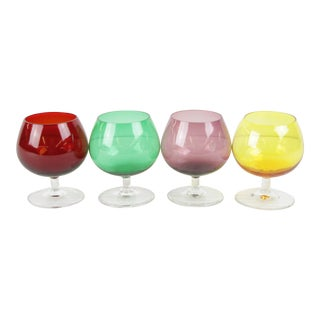 Petite Glass Brandy Snifters - Set of 4
