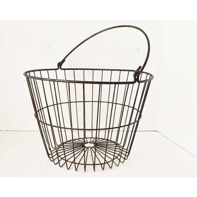 Rustic Industrial Wire Egg Basket - Image 4 of 7