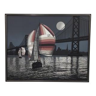 Vintage Letterman Mid-Century San Francisco Bridge Painting