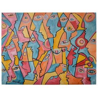 """All Those Eyes"" Acrylic on Canvas by Mark Adams"