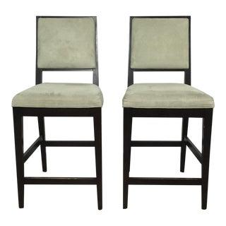 Crate & Barrel Upholstered Bar Stools - A Pair
