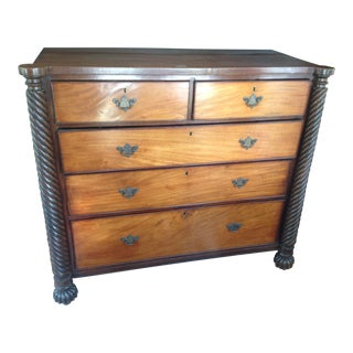 19th C. Antique English Barley Twist Chest