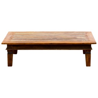 Handmade Reclaimed Solid Wood Large Coffee Table